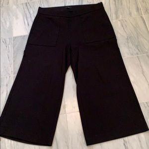 J crew 365 wide leg ankle pants black xl